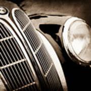 1938 Bmw 327-8 Cabriolet Grille Emblem -1526s Poster