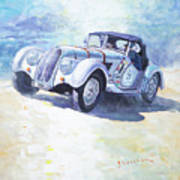 1938 Bmw 328 Roadster Caracciola Gp 2016 Winner Poster