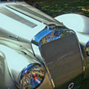 1938 Delage D8 - 120 Aerodynamic Coupe Front Grill Poster