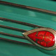 1938 Lincoln Zephyr Convertible Sedan Emblem Poster