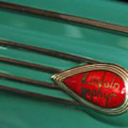 1938 Lincoln Zephyr Convertible Sedan Emblem Poster
