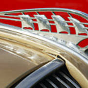 1938 Plymouth Hood Ornament Poster