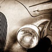 1938 Talbot-lago 150c Ss Figoni And Falaschi Cabriolet Headlight - Emblem -1554s Poster