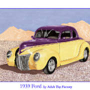 1939 Ford Deluxe Street Rod Poster