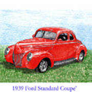 1939 Ford Standard Coupe Poster