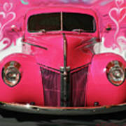 1940 Classic Hot Pink Ford Poster