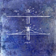 1940 Cymbal Patent Blue Poster