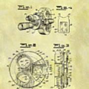 1940 Film Camera Patent Poster
