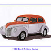 1940 Ford Street Rod Poster