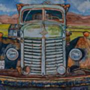 1940 International Harvester Truck Poster