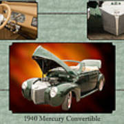 1940 Mercury Convertible Vintage Classic Car Painting 5238.02 Poster