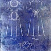 1940 Waitress Uniform Patent Blue Poster