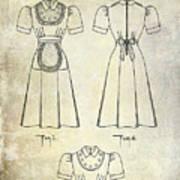 1940 Waitress Uniform Patent Poster