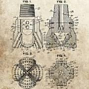 1940s Oil Drill Bit Patent Poster