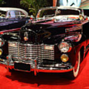 1941 Cadillac Series 62 Convertible Coupe . Front Angle Poster