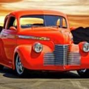 1941 Chevrolet Coupe 'reno Sunrise' Poster
