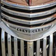 1941 Chevy - Chevrolet Pickup Grille Poster