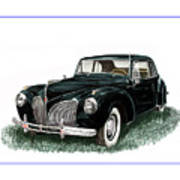 1941 Lincoln Continental Mk 1 Poster