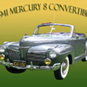1941 Mercury Eight Convertible Poster