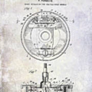 1941 Porsche Brake Mechanism Patent Poster