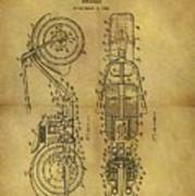 1942 Chopper Motorcycle Patent Poster