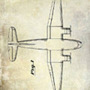 1945 Transport Airplane Patent Poster