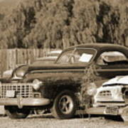 1946 Dodge In Sepia Poster