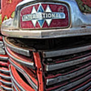 1946 International Harvester Truck Grill Poster by Daniel Hagerman