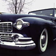 1947 Classic Lincoln Ragtop On Moody Day Poster