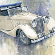 1948 Jaguar Mark Iv Dhc Poster