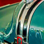 1948 Pontiac Streamliner Woody Wagon Hood Ornament Poster