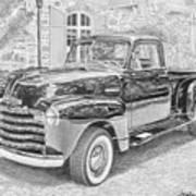 1949 Chevrolet Pickup Truck Art Print Poster