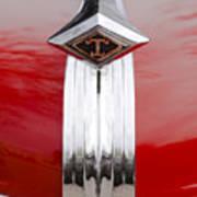 1949 Diamond T Truck Hood Ornament Poster