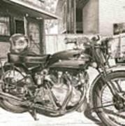 1949 Vincent Rapide Hrd Poster