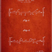 1950 Barbell Patent Spbb04_vr Poster
