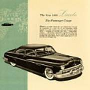 1950 Lincoln 6 Passenger Coupe Poster