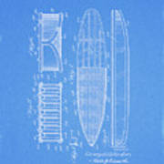1950 Surfboard Patent Poster