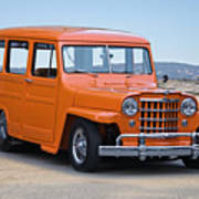 1950 Willys Custom Wagon Poster