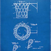 1951 Basketball Net Patent Artwork - Blueprint Poster