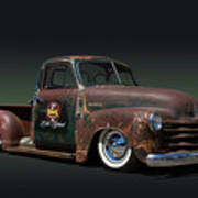 1951 Rusty Chevrolet Pickup Truck Poster