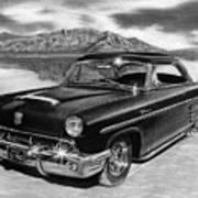 1953 Mercury Monterey On Bonneville Poster by Peter Piatt