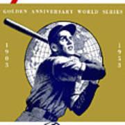 1953 Yankees Dodgers World Series Program Poster
