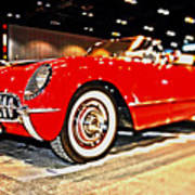 1954 Chevrolet Corvette Number 2 Poster