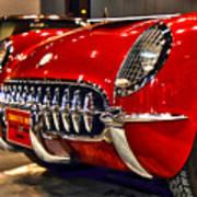 1954 Chevrolet Corvette Number 3 Poster