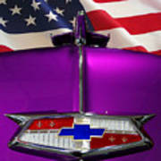 1954 Chevrolet Hood Emblem Poster