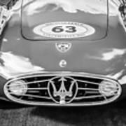 1954 Maserati A6 Gcs -0255bw Poster