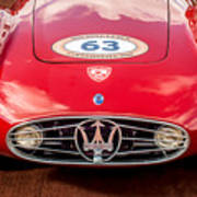 1954 Maserati A6 Gcs Grille -0255c Poster