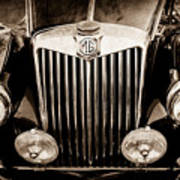 1954 Mg Tf Grille Emblem -0165s Poster