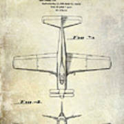 1955  Airplane Patent Drawing 2 Poster
