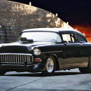 1955 Chevrolet Coupe 'sinister Chevy' Poster